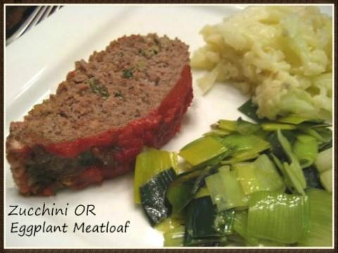 Eggplant or Zucchini Meatloaf