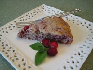 Einkorn Cranberry Walnut Cake